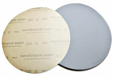 """Lot Of 50 12"""" 320 Grit Silicon Carbide Wet/Dry Sanding Disc"""