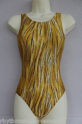 Leotard Gold Tiger Lycra Adults X/S, S, M, L, X/L