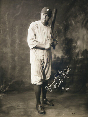 BABE RUTH  ( N Y YANKEES ) YOU GET BOTH PHOTOS  -   5x7  SIGNED  PHOTO REPRINTS