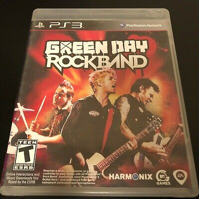 Green Day: Rock Band Complete With Manual PS3 - Sony Playstation 3