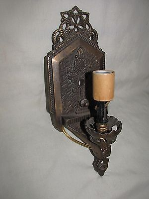 Unusual & Very Attractive Art Deco Iron Sconce Wall Light for Restoration