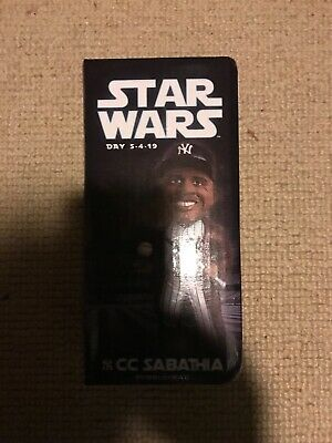 Rare CC SABATHIA New York Yankees STAR WARS Day Bobblehead SGA Jedi NY 5/4/2019