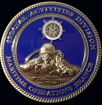 """CIA special activities division  Maritime Operations Branch Challenge Coin 2"""" 66"""