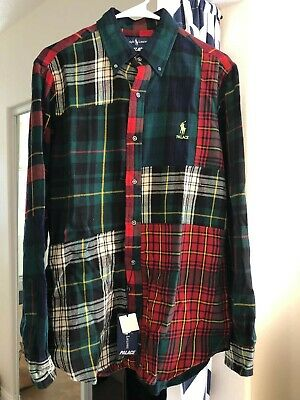 Plaid X Multi B Ralph Polo Lauren Flannel Palace dShirt Pieced zGUVpqMS