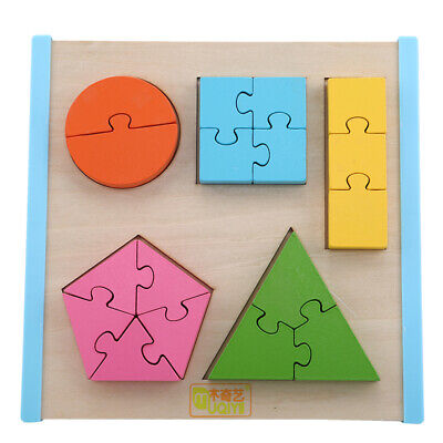 Wooden Learning Geometry Model Educational Toy Puzzle Teaching Kids Toys Q