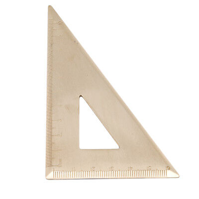 1 pc Gold Color Triangle Ruler Protractor Miter Framing Measuring Tool O3