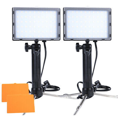 2 Sets 60 LED Portable Photo Video Light Continuous Lighting Kit for Table Top