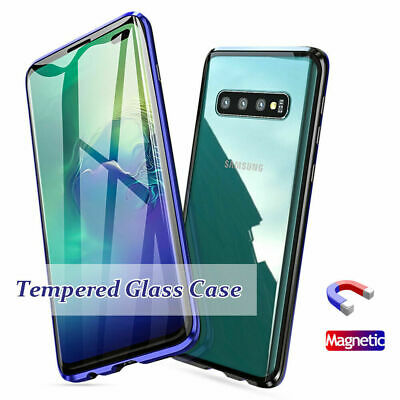 Magnetic Adsorption Case For Samsung Galaxy S10 Plus Double Sided Tempered Glass