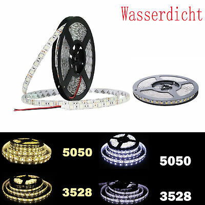 5m-20m SMD 5050 LED Strip Streifen Band Leiste Stripe Lichterkette 60-120leds