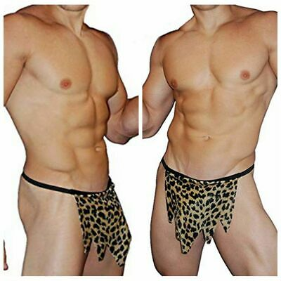 Leopard Jungle Mens Briefs Boxer Underwear Pouch Bulge T-back G-String Thongs