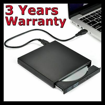 External Drive USB Portable Burner CD RW DVD ROM Reader Writer For Mac & Windows