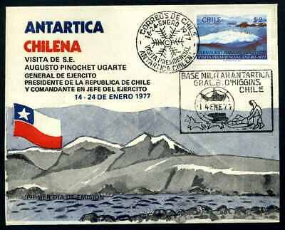 CHILE 1977 ANTARKTIC Brief gestempelt (108245)