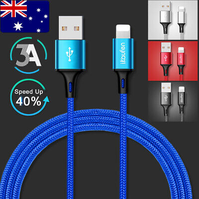 Upgrade 3A Lightning Sync Data USB Cable Charging Cord Apple iPhone X Xs Max XR