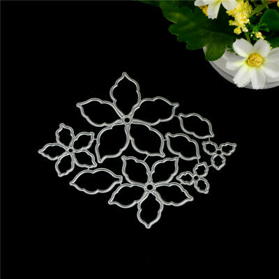 8pcs Flower Set Metal Cutting Dies For DIY Scrapbooking Album Paper Cards,!