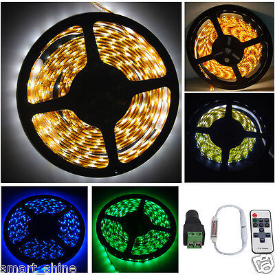 5M RGB LED Strip Light Adapter IR Remote Controller Waterproof SMD 2835 5050