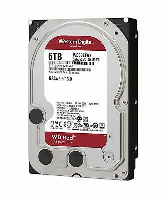 "Western Digital WD60EFAX - 6TB Red 3.5"" SATA Internal Hard Drive HDD 256MB"