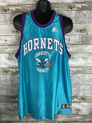 ea95050f9ef VINTAGE 90S CHARLOTTE Hornets Practice Jersey Youth Boys Size XL ...