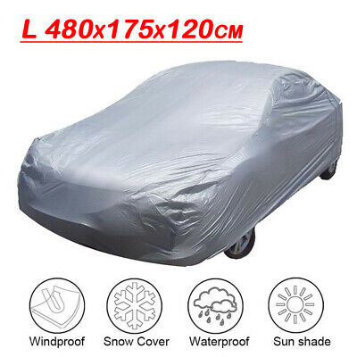 All Weather Large Family Car Rain Cover 1 Layer Waterproof Cotton Lined Size L