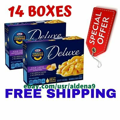(8 Pack) Kraft Deluxe Four Cheese Macaroni & Cheese Dinner, 14 oz Box
