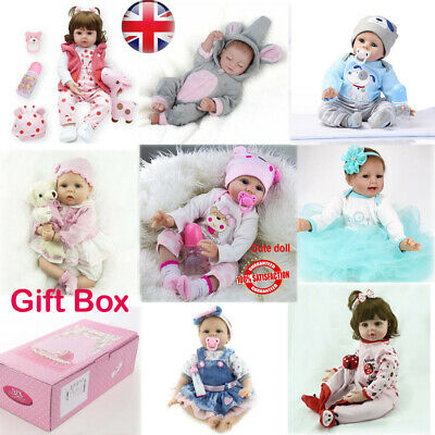 Reborn Baby Dolls Real Life Like Looking Silicone Newborn Baby Girl Doll+Clothes