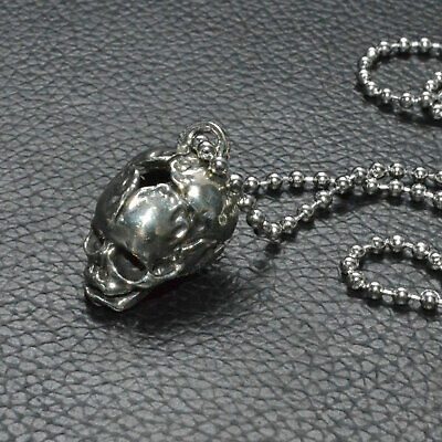 Unique White copper Human Baby Skull Bead Lost wax casting Polished Pendant