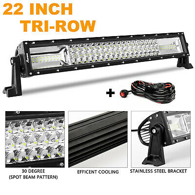 """22INCH LED Light Bar Triple Row Combo Beam Work Driving Off Road 20'' 23"""" +Wire"""
