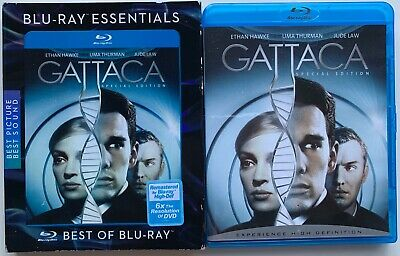 Gattaca Special Edition Blu Ray + Very Rare Oop Sony Essentials Slipcover Sleeve
