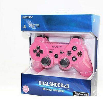 PS3 Bluetooth Kabellos Spiele Controller Gamepad Joystick Für PlayStation Rosa