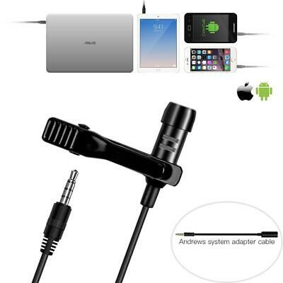 Lavalier Lapel Microphone,KIMAFUN Omnidirectional Mic with Easy Clip On System ­