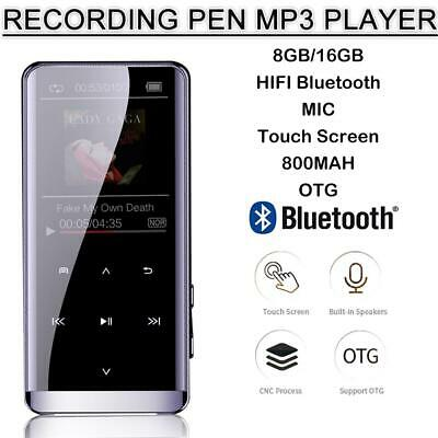 OLED MP3 Music Player Lossless Sound Portable 8GB/16G Voice Recorder Bluetooth
