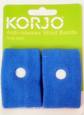 Korjo Anti-nausea Wrist Bands Sea Boat Car Bus Travel Sickness Wristbands 1 Pair