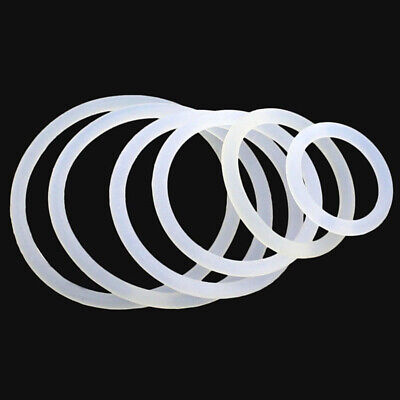1-4mm Cross Section Food Grade Silicone Rubber O-Ring Seal Washer White ALL SIZE