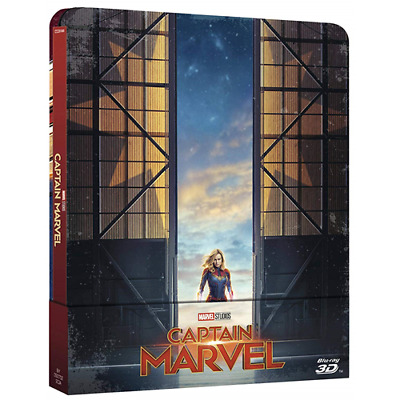 Captain Marvel (Steelbook) (Blu-Ray 3D+BluRay)  [Blu-Ray Nuovo]