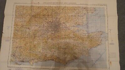 Secret Map Published During Second War  - London and South East - 1941