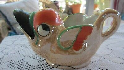 Vintage peach Lustre Ware Art Deco  Duck Milk Jug made in Japan
