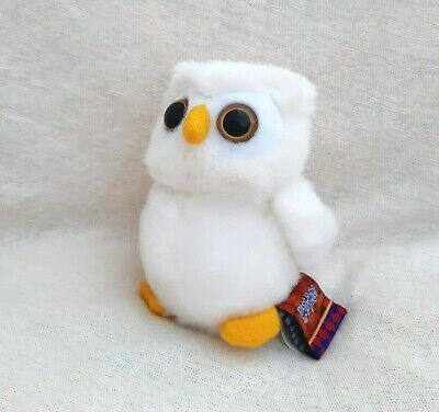 """Harry Potter Snowy Owl """"Hedwig"""" soft toy stuffed small 11,5 cm / 4 1/2"""" tall"""