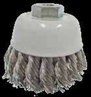 Flexovit - Twist knot wire cup Brush for Angle Grinders 75 x 1 Row x M14-2.00