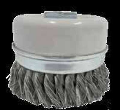 Flexovit - Twist knot Skirt cup wire Brush for Angle Grinders 100 x 1Row x M14-2