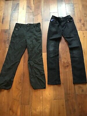 2 NEXT DENIM JEANS AGE 12 BOYS DARK DENIM Reg Fit BLACK Grey Jeans Next Age12
