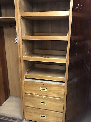 Large Edwardian Wardrobe With Mirror And Drawers