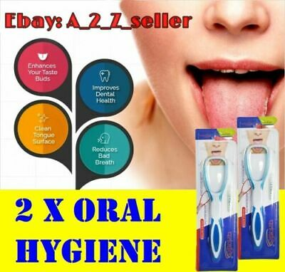 2 X High Quality Plastic Tongue Cleaner Tounge Scraper U.K FREE FAST DELIVERY