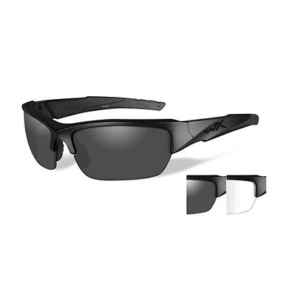 7d8bf7a5db9b Wiley X WX Valor Sunglasses Matte Black Frame, Smoke Gray & Clear Lens  CHVAL07