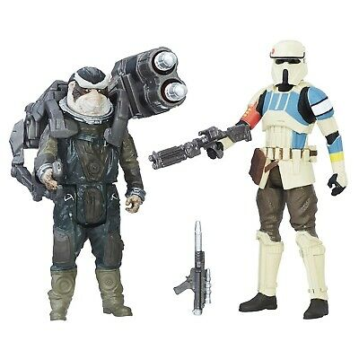 Star Wars: Rogue One Shoretrooper Captain vs. Bistan 3.75 inch Action Figure