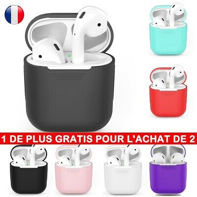 FR Coque Housse Antichoc Protection Apple AirPods Silicone Case Slim Ecouteur BR