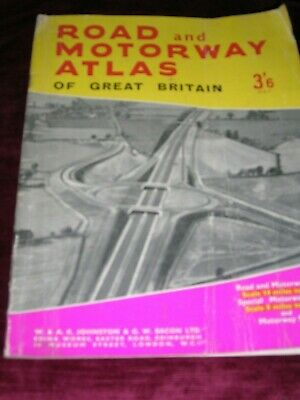 Road And Motorway Atlas Of Great Britain W & A.k. Johnston 1964