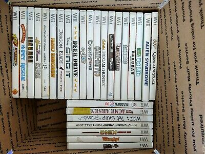 27 Game Nintendo Wii Lot NO DUPLICATES Fun Titles