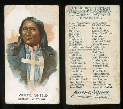 """1888 N2 American Indian Chiefs """"White Shield"""" POOR **AA-10171**"""