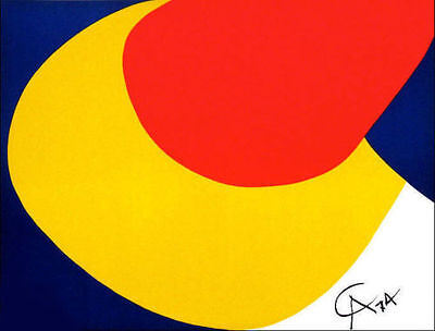 Alexander CALDER Braniff Airlines Convection Original 1974 Lithograph Art