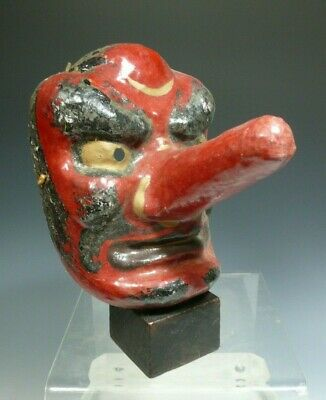 Bali Balinese Paper Mache Similar to Japanese Old Forest God Mask Tengu 20th c.