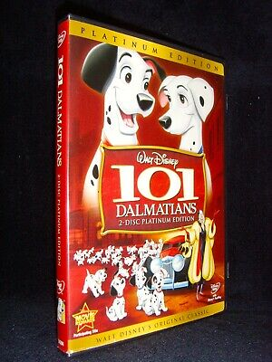 Disney 101 Dalmatians (DVD, 2008, 2-Disc Set, Platinum Edition) No Scratches USA